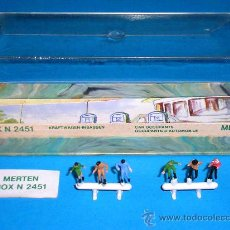 Trenes Escala: CONJUNTO FIGURAS VIAJEROS AUTOMÓVILES REF. 2451, MERTEN ACCESORIOS TRENES ESC. N, AÑOS 70. SIN USO.. Lote 31556108