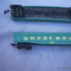 Trenes Escala: 2 VAGONES AURORA ESCALA N - SIN RUEDAS. Lote 40710285