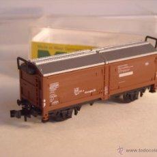 Trenes Escala: TRIX ESCALA N REF 3350 VAGON MERCANCIAS MINITRIX. Lote 40981769