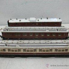 Trenes Escala: TRIX - LOTE DE TRE VAGONES DOS COCHES CAMA Y FURGÓN - ESCALA N. Lote 41448355
