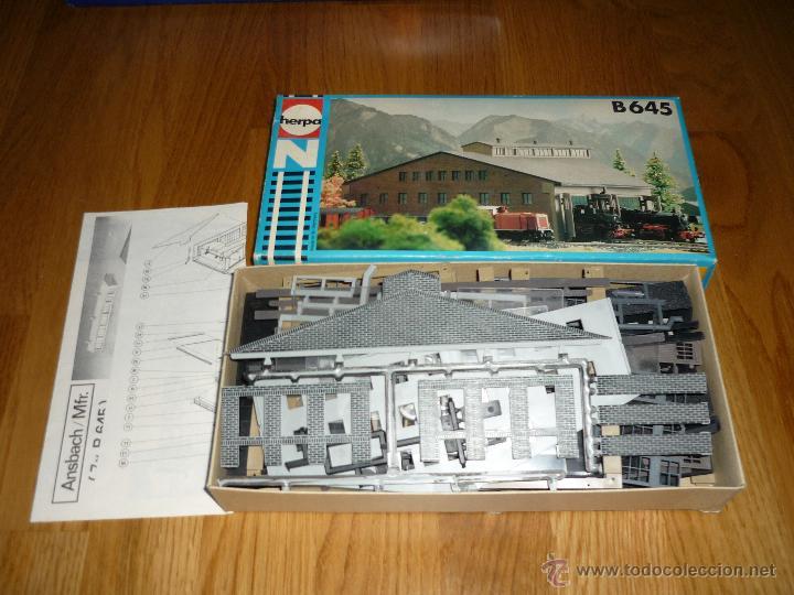 Trenes Escala: HERPA REF B 645 MEDE IN GERMANY EDIFICIO ESTACION 22X21X10 CM. RARO - Foto 2 - 44363071