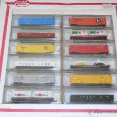 Trenes Escala: LOTE DE 12 VAGONES ANTIGUOS ESCALA N. MARCA MODEL POWER. PRECINTADOS. Lote 44650797