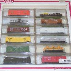 Trenes Escala: LOTE DE 12 VAGONES ANTIGUOS ESCALA N. MARCA MODEL POWER. PRECINTADOS. Lote 51832619