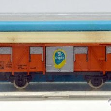 Trenes Escala: VAGÓN MERCANCÍAS ATLAS N CHIQUITA REF 2469 CON CAJA. Lote 54170015