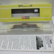 Trenes Escala: BRAWA REF: 1415 - LOCOMOTORA DIESEL 201 284-7 DE CORRIENTE CONTINUA - ESCALA N. Lote 47407945