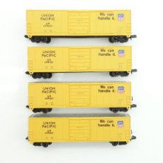 Trenes Escala: LOTE DE VAGONES CERRADOS LIFE LIKE 4X US BOXCAR UNION PACIFIC ESCALA N. Lote 155545605