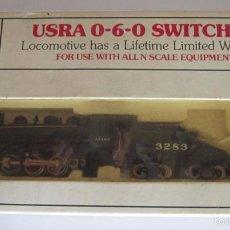 Trenes Escala: LOCOMOTORA BACHMANN, USRA 0-6-0 SWITCHER SANTA FE, EN CAJA. CC. Lote 57964184