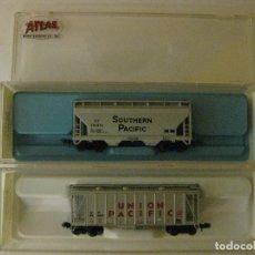 Trenes Escala: 2 VAGONES NUEVOS ATLAS TIPO AMERICANO ESCALA N. REFERENCIAS 3859 , 3909. Lote 64408679