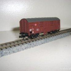 Trenes Escala: TRIX N VAGÓN CERRADO 2 EJES TIPO J (CON COMPRA 5 LOTES O MAS ENVÍO GRATIS). Lote 66456442