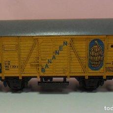 Trenes Escala: TRIX N - VAGÓN PARA EL TRANSPORTE DE BANANAS. Lote 69944393