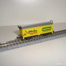 Trenes Escala: MINITRIX N VAGÓN MERCANCIAS CERRADO (CON COMPRA DE 5 LOTES ENVÍO GRATIS). Lote 73942015
