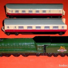Trenes Escala: EXPRESS PASSENGER TRAIN REF. 798, METAL ESC. N, DINKY TOYS MADE IN ENGLAND, ORIGINAL AÑOS 50.. Lote 75224551