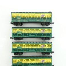 Trenes Escala: LOTE DE VAGONES GANADEROS LIFE-LIKE US 4X BOXCAR CNW NORTH WESTERN ESCALA N. Lote 80057277