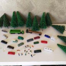 Trenes Escala: LOTE COCHES WIKING Y DECORACIÓN MAQUETA TREN ESCALA N. Lote 86551748