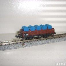 Trenes Escala: MINITRIX N BORDE MEDIO CON BIDONES (CON COMPRA DE 5 LOTES O MAS ENVÍO GRATIS). Lote 119018356
