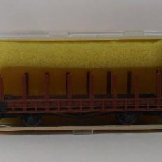 Trenes Escala: MINITRIX N - REF. 3562 - VAGÓN DE BORDE BAJO - CAJA ORIGINAL. Lote 89606516