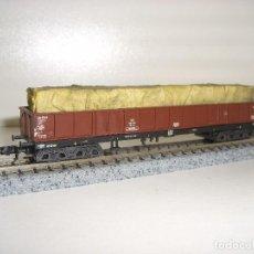 Trenes Escala: MINITRIX N BORDE MEDIO 4 EJES CON CARGA CAMBIABLE (CON COMPRA DE 5 LOTES O MAS ENVÍO GRATIS). Lote 90998980