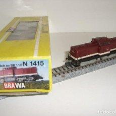 Trenes Escala: BRAWA N LOCOMOTORA MANIOBRAS BR 110 REF 1415 (CON COMPRA DE 5 LOTES O MAS ENVÍO GRATIS). Lote 93107790
