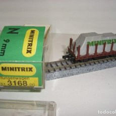 Trenes Escala: MINITRIX N TELERO CON TOLDO REF 3168 (CON COMPRA DE 5 LOTES O MAS ENVÍO GRATIS). Lote 95827331