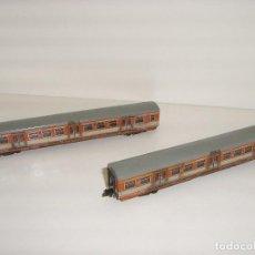 Trenes Escala: MINITRIX N COMPOSICIÓN ENVEJECIDA CON LUZ (CON COMPRA DE 5 LOTES O MAS ENVÍO GRATIS). Lote 95827451
