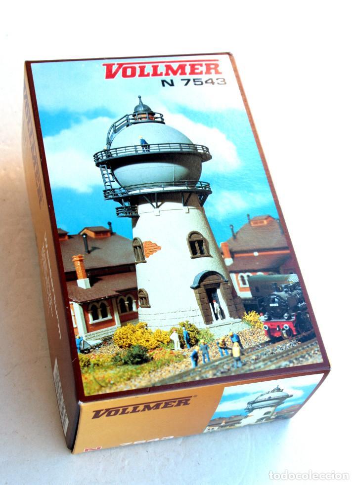 VOLLMER N 7543 • TORRE ALJIBE - WATERTOREN • ESCALA N (MOD. FERROVIARIO 17 X 9 CM) (Juguetes - Trenes Escala N - Otros Trenes Escala N)