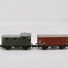 Trenes Escala: LOCOMOTORA VAPOR Y 3 DIFERENTES VAGONES / MARCA TRIX / ESCALA N. Lote 102144175