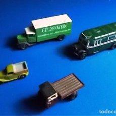 Trenes Escala: LOTE DE: AUTOBÙS (OXFORD) Y 3 CAMIONES. Lote 103844183