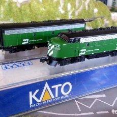 Trenes Escala: TANDEM DE LOCOMOTORAS KATO EMD F7 A+B BURLINGTON NORTHERN ESCALA N. Lote 106687991