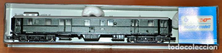 Trenes Escala: FURGÓN DE EQUIPAJES 4 EJES VERDE DE LA DB DE MINITRIX. ESCALA N - Foto 2 - 109456459