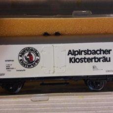 Trenes Escala: VAGÓN ALPIRSBACHER KLOSTERBRAU MINITRIX N 3224. Lote 114487622