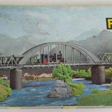 Trenes Escala: MAQUETA DE PUENTE PARA TRENES. FALLER B-83. ESCALA N. CAJA COMPLETA. SIRCA 1960. . Lote 114514427