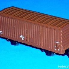 Trenes Escala: VAGÓN AMERICANO CERRADO MARRÓN Nº 807, KATO ESC. N, MADE IN JAPAN, ORIGINAL 1980.. Lote 117469087