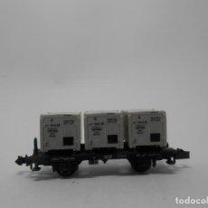 Trenes Escala: VAGÓN TRANSPORTE DE RESIDUOS ESCALA N DE MINITRIX . Lote 118693767