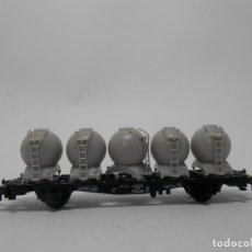 Trenes Escala: VAGÓN TRANSPORTE DE RESIDUOS ESCALA N DE MINITRIX . Lote 118693835