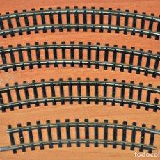 Trenes Escala: LOTE DE 4 TRAMOS DE VÍA CURVA DIVERSAS MEDIDAS DE TRIX. ESCALA N. Lote 118706787