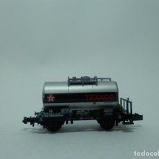 Trenes Escala: VAGÓN CISTERNA TEXACO ESCALA N DE MINITRIX. Lote 119018963