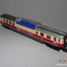 Trenes Escala: ANTIGUO COCHE VIAJEROS PANORÁMICO CON LUZ INTERIOR EN ESCALA *N* DE MINITRIX TRIX. Lote 200180716