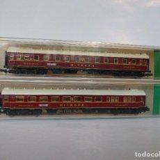 Trenes Escala: MINITRIX 3153 Y 3154 VAGONES DE PASAJEROS MITROPA ESCALA N. Lote 123137319