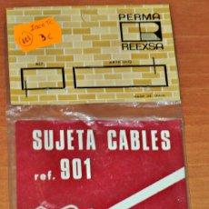 Trenes Escala: SET SUJETA CABLES DE PERMA TREN, REF. 901. Lote 125950215