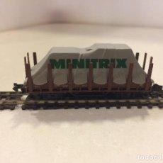 Trenes Escala: MINITRIX TRIX ESCALA N - VAGON TELEROS REF 3586. Lote 129093571