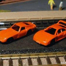 Trenes Escala: PAR DE COCHES DEPORTIVOS. Lote 137776370