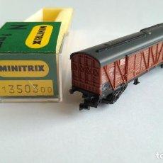 Trenes Escala: TRIX MINITRIX N VAGÓN CARGA, EN CAJA. VÁLIDO IBERTREN . Lote 139331642