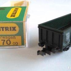 Trenes Escala: TRIX MINITRIX N VAGÓN CARGA. EN CAJA. VÁLIDO IBERTREN. Lote 139344982