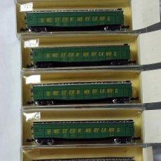Trenes Escala: MINITRIX 3109 LOTE DE 6 GONDOLAS WESTERN MARYLAND ESCALA N. Lote 143259394