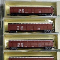 Trenes Escala: MINITRIX 3107 LOTE DE 5 GONDOLAS AT&SF SANTA FE ESCALA N. Lote 143260450