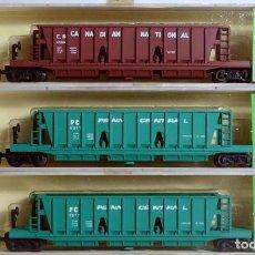 Trenes Escala: MINITRIX LOTE DE 3 HOPPERS DE GRAN TONELAJE ESCALA N. Lote 143260850