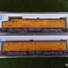 Trenes Escala: KATO LOTE DE 2 LOCOMOTORAS ALCO PA-1+PB-1 UNION PACIFIC ESCALA N. Lote 143273194