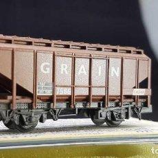 Trenes Escala: PECO NR-66-U VAGÓN DE GRANOS MARRÓN ESCALA N. Lote 150942090
