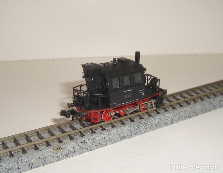 Trenes Escala: MINITRIX N locomotora vapor 98-307 GlasKasten (Con compra de 5 lotes o mas envío gratis) - Foto 2 - 150985902