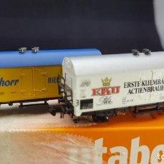 Trenes Escala: MINITRIX VAGONES FRIGORÍFICO (PSCHORR Y EKU) ESCALA N. Lote 151900366